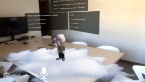 assistente virtuale in realtà aumentata